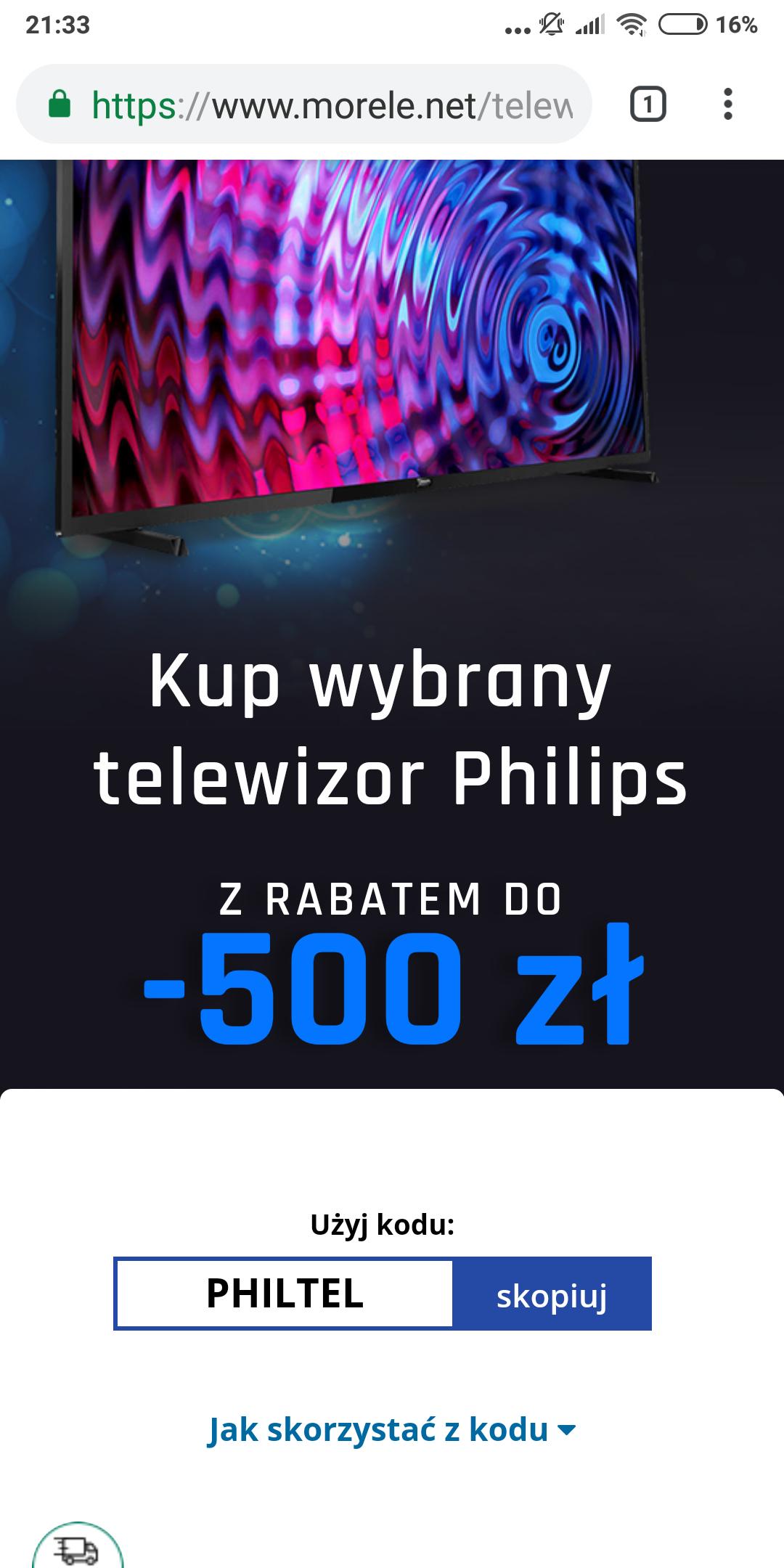 Telewizory Philips w morele w dobrych cenach