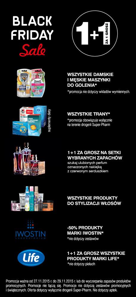 [Black Friday] Drugi produkt za GROSZ (maszynki do golenia, perfumy, produkty do stylizacji włosów i in.) @ Super-Pharm
