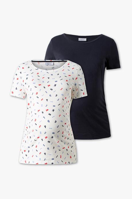 T-shirt ciążowy (2 szt) w C&A