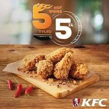 KFC 5 kawałków hot-wings za 5 zł Oferta przez cały tydzień!