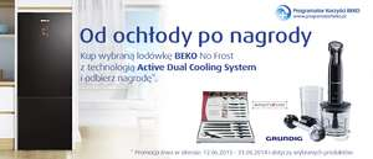 Kup wybraną lodówke Beko i odbierz nagrodę.