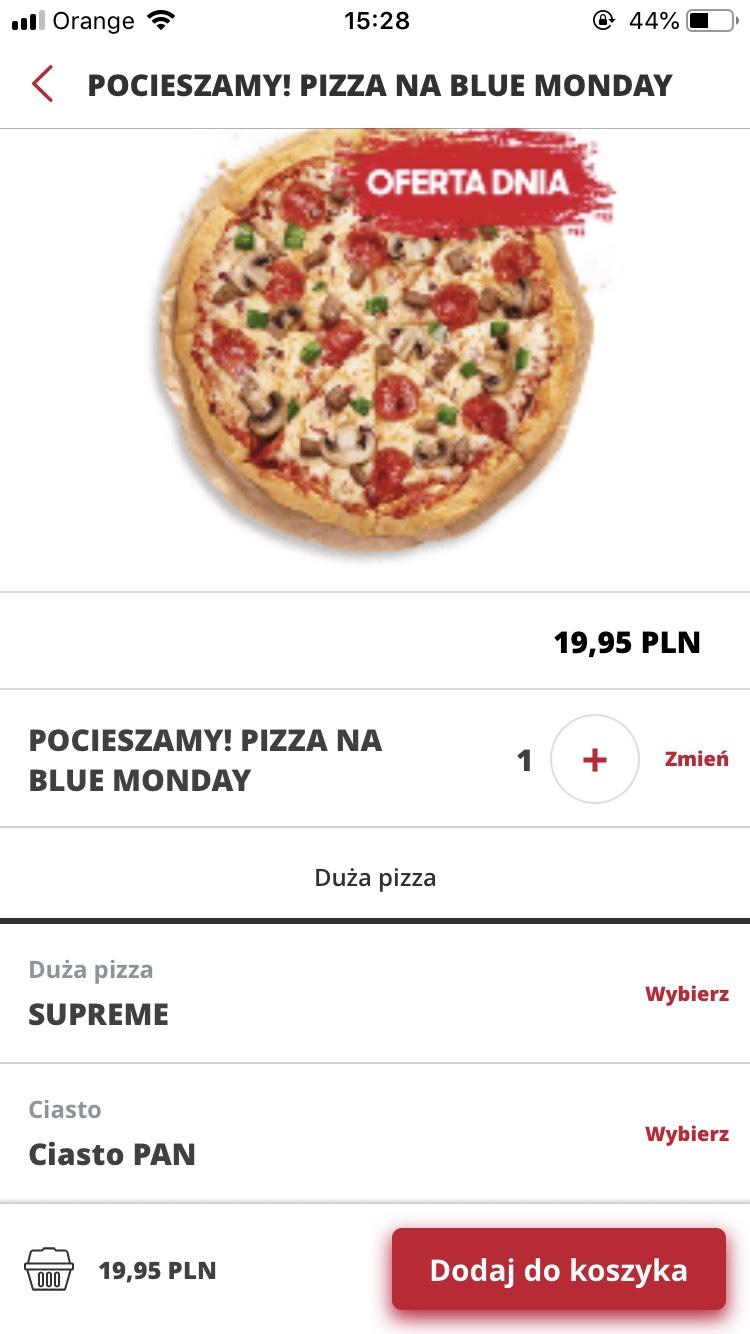 Pizza Hut duża pizza w promocji