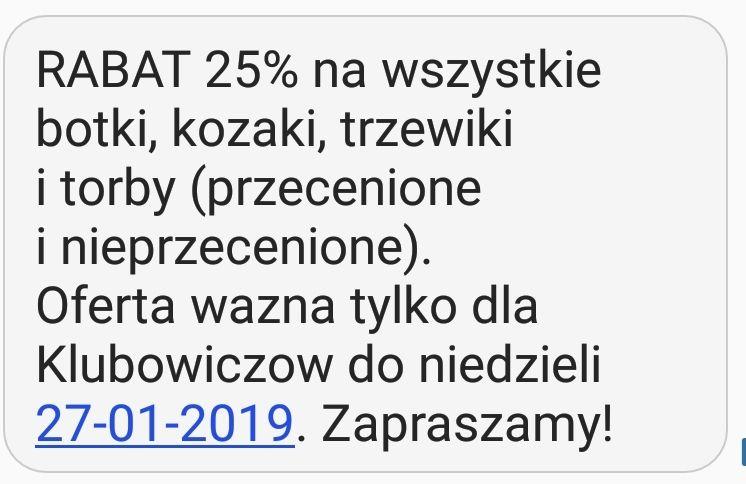 CCC 25% Rabat na kozaki torby trzewiki