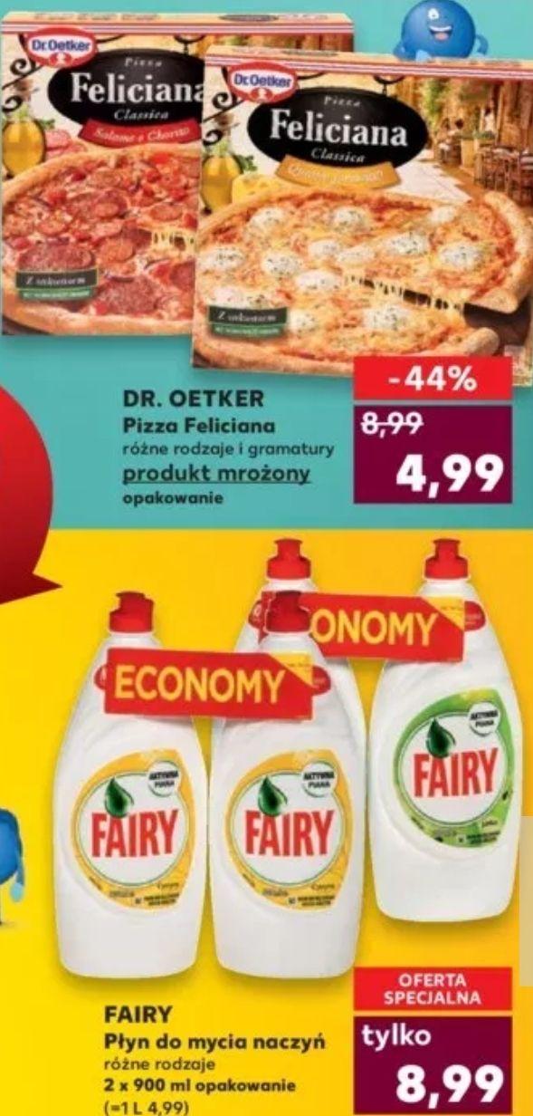 """""""Udany weekend"""": m.in. pizza Feliciana za 4,99zł i 2x 900ml płyn Fairy za 8,99zł (4,99zł/L) @ Kaufland"""
