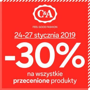 [24-27.01] Dodatkowe 30% rabatu na na wszystkie przecenione produkty @ C&A