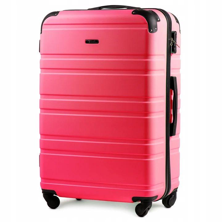 Duża walizka w małej cenie Wings 4, XL  90litrów, różne kolory, na kółkach, zamek szyfrowy