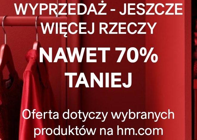 Do -70% na wybrane produkty HM