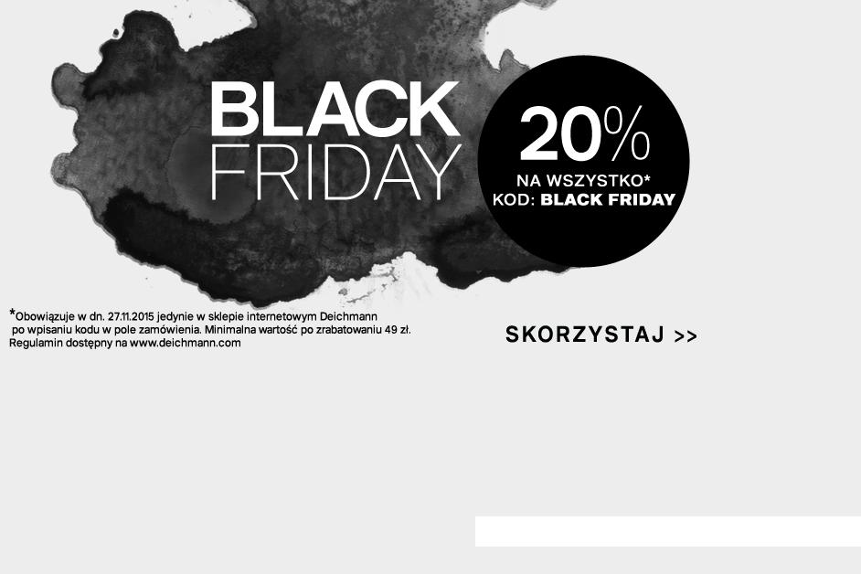 [Black Friday] 20% rabatu na wszystko @ Deichmann