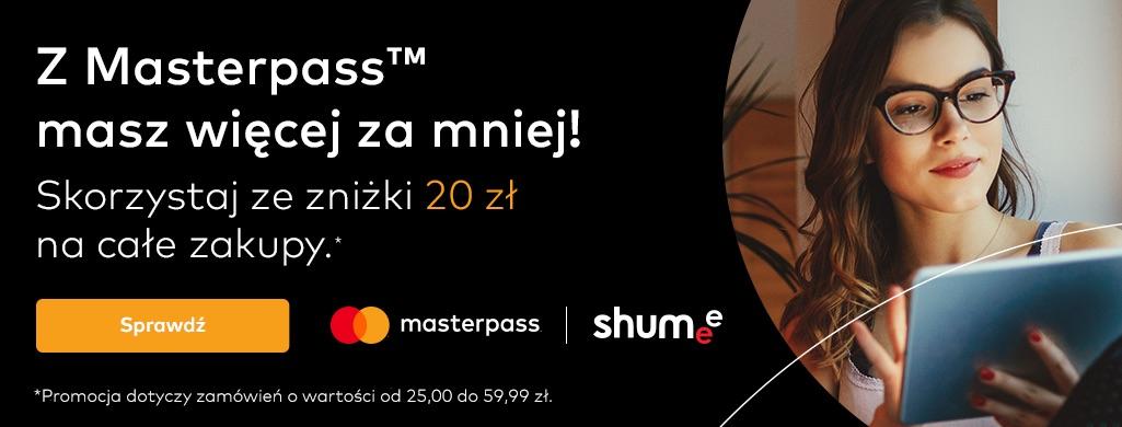 20 zł rabatu przy zakupach za min. 25 zł - Masterpass w Shumee.pl