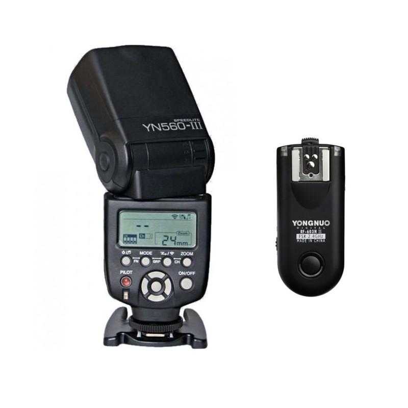 Zestaw lampa błyskowa Yongnuo YN-560 III + wyzwalacz RF-603 II Nikon - Klasyk