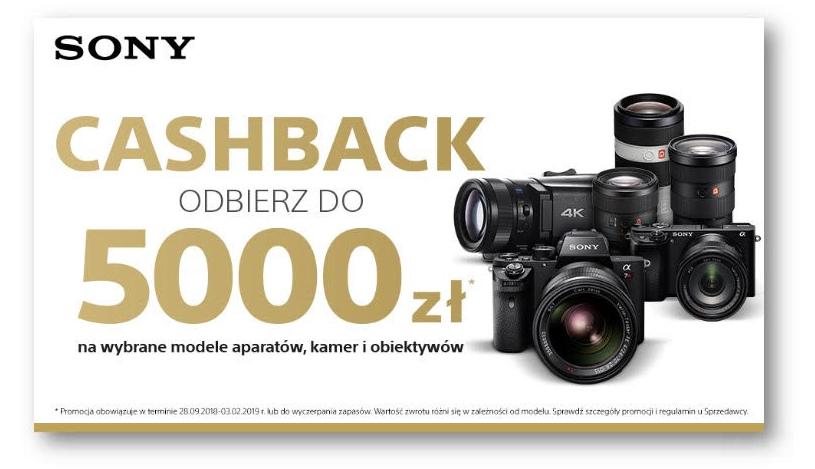 SONY Cashback na aparaty i obiektywy