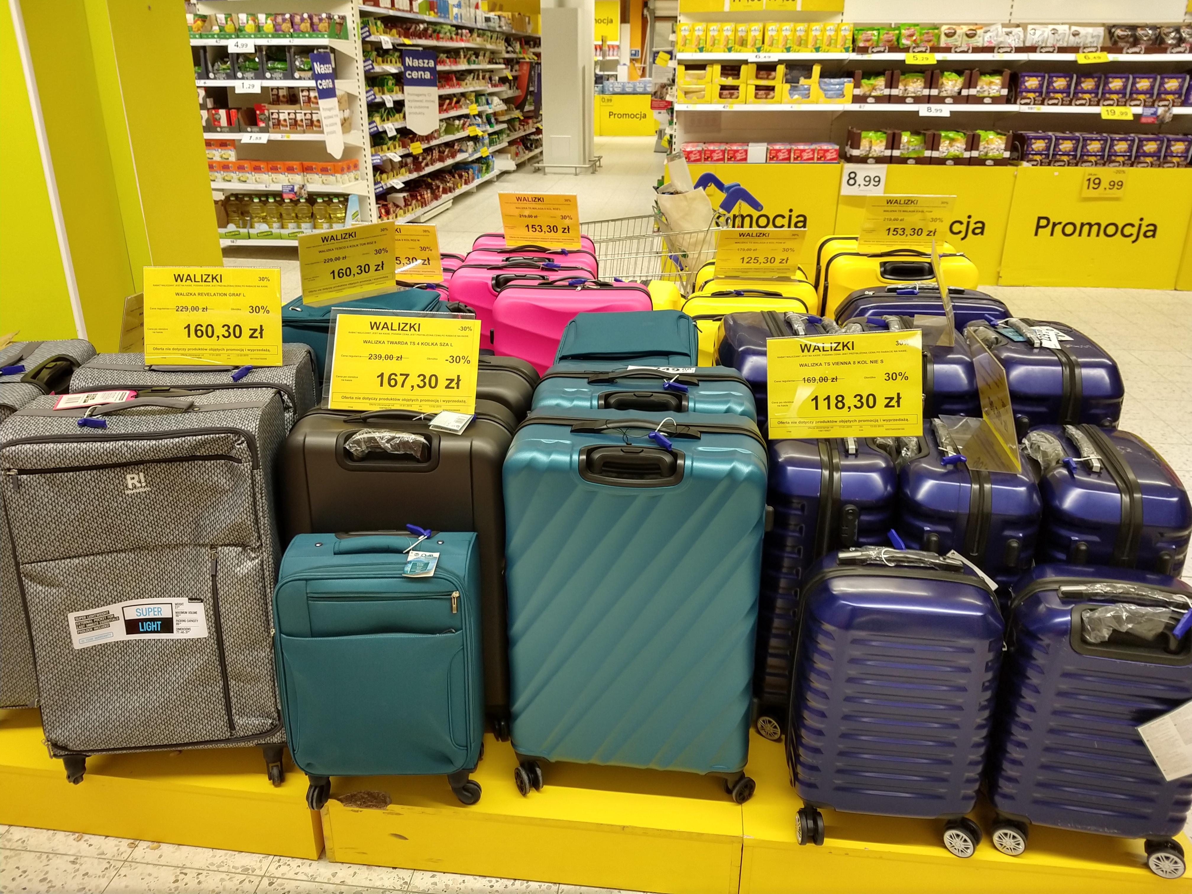 Wszystkie walizki Tesco -30%