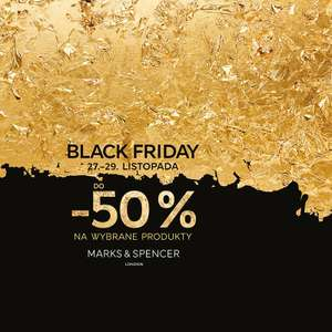 [Black Friday] Do 50% zniżki na wybrane produkty @ Mark and Spencer
