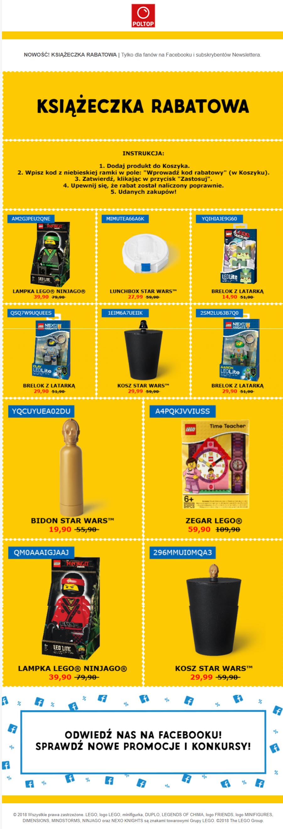 Lego/Star Wars Książeczka rabatowa od POLTOP