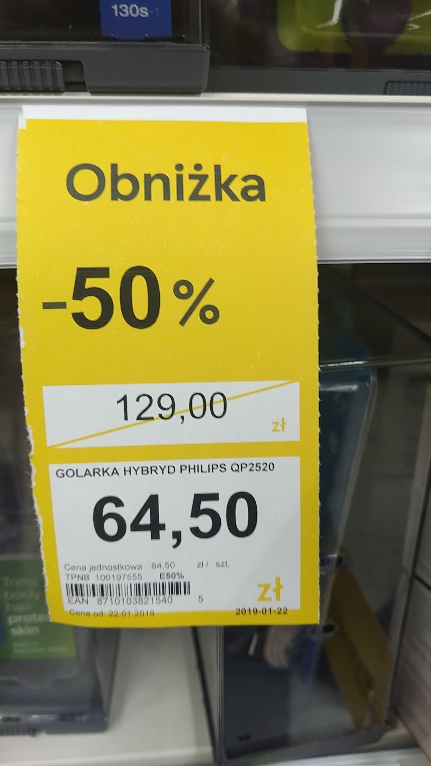Philips ONEBLADE QP2520/20 - Tesco - jeszcze taniej :)