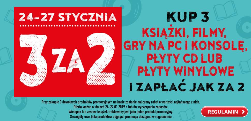 Biedronka - kup 3 i zapłać za 2: książki, filmy, gry, płyty