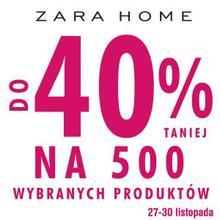 [Black Friday] Do 40% zniżki na zakupy + darmowa wysyłka @ Zara Home