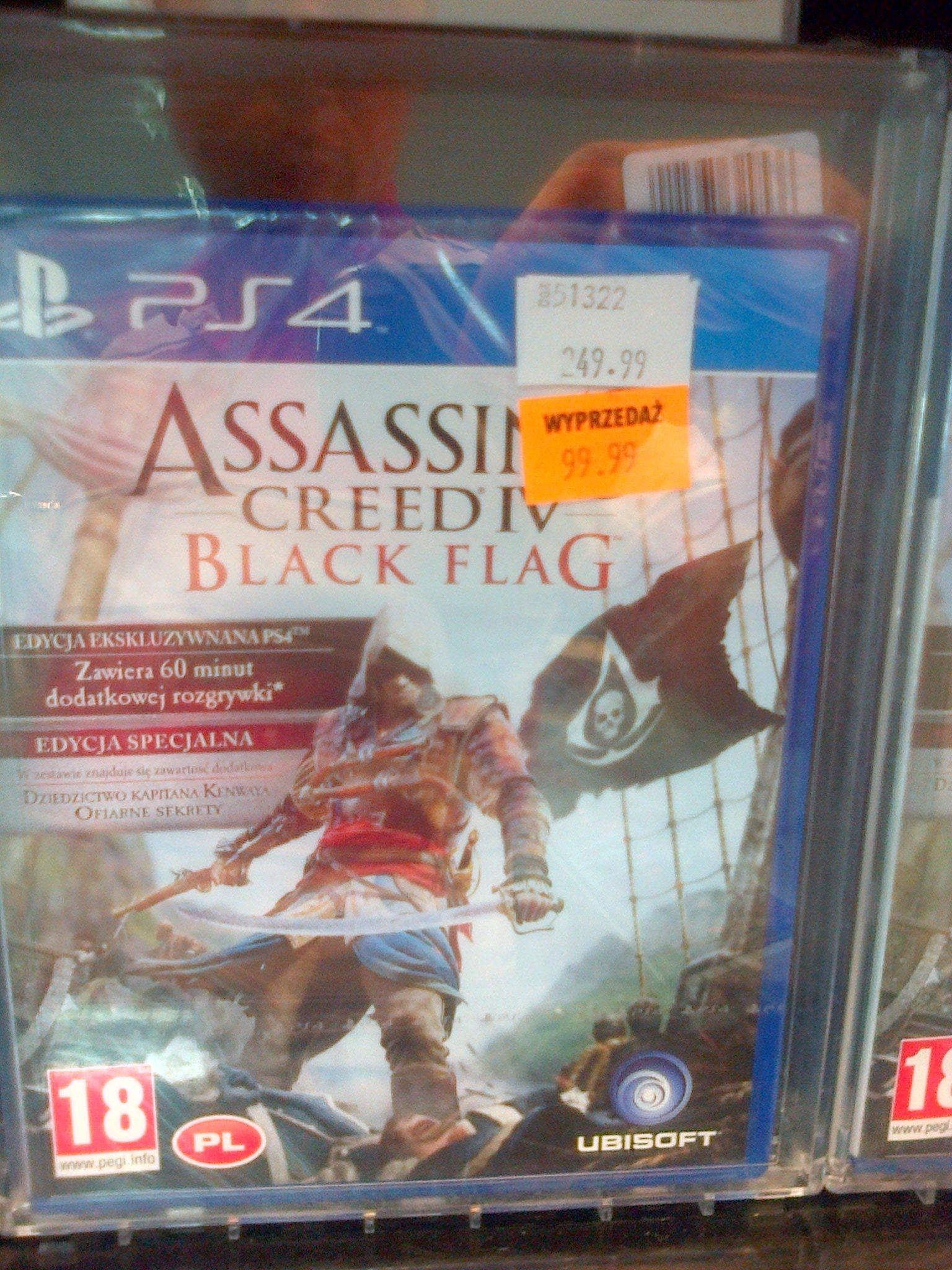 Assassins Creed 4 Black Flag PS4 za 99,99 zł @ Avans