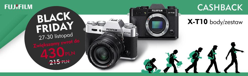 Black Friday z Fujifilm Cashback aż 430 zł zwrotu za X-T10, zamiast 215 zł!