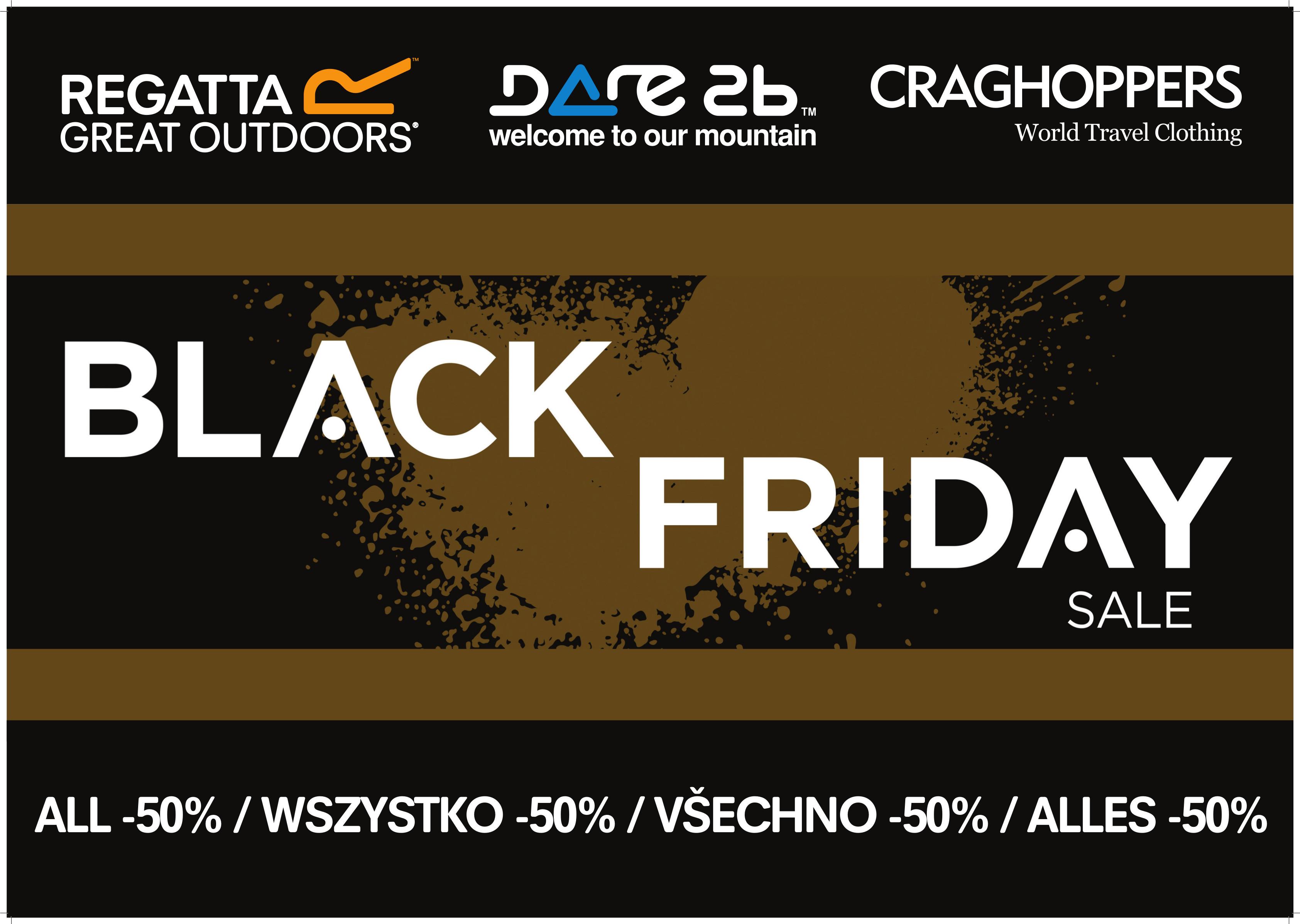 [Black Friday] Wszystko -50% plus darmowa wysyłka @ Regatta