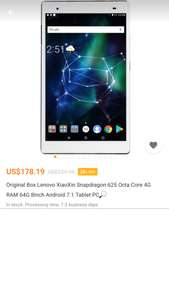 Lenovo XiaoXin Snapdragon 625 Octa Core 4G RAM 64G 8Inch Android 7.1 Tablet PC