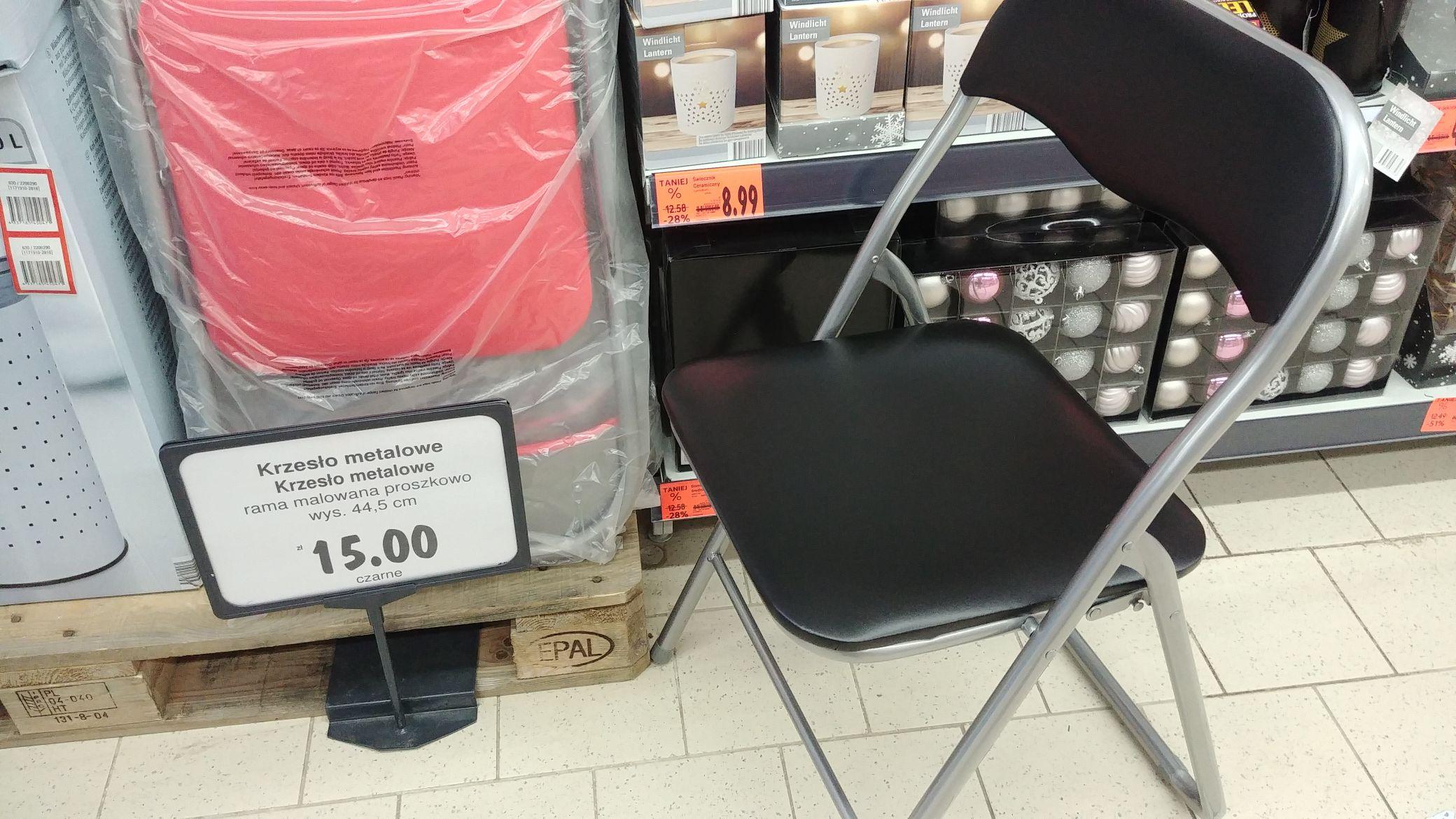 Krzesło składane do 100 kg Kaufland