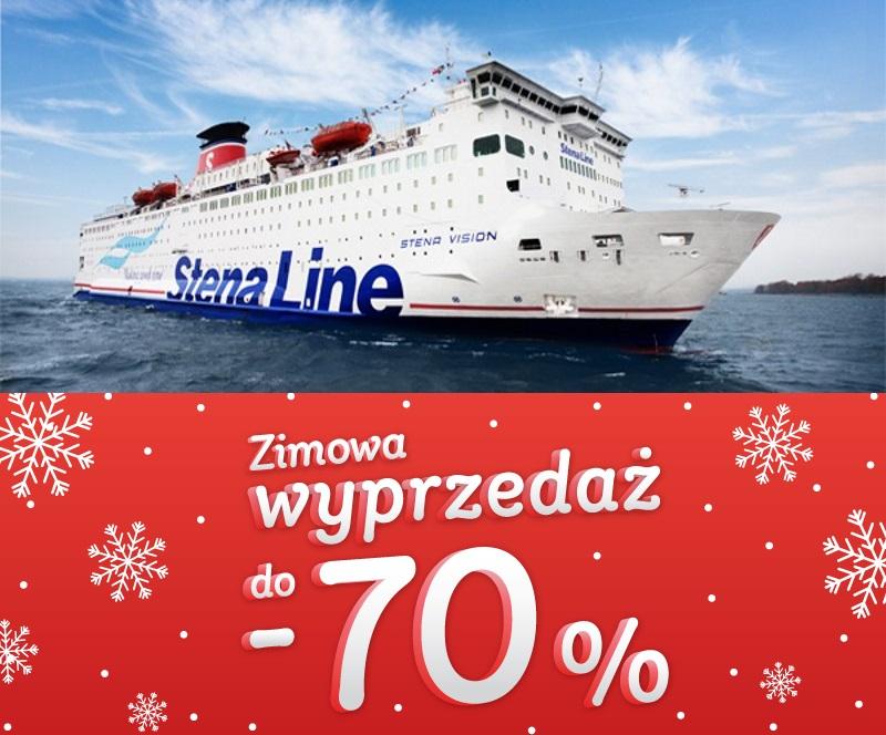 STENA LINE | Zimowa wyprzedaż  do -70%  | Rejsy z samochodem | Rejsy turystyczne