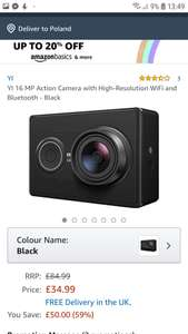 Yi action cam +obudowa z Amazon.Co.Uk