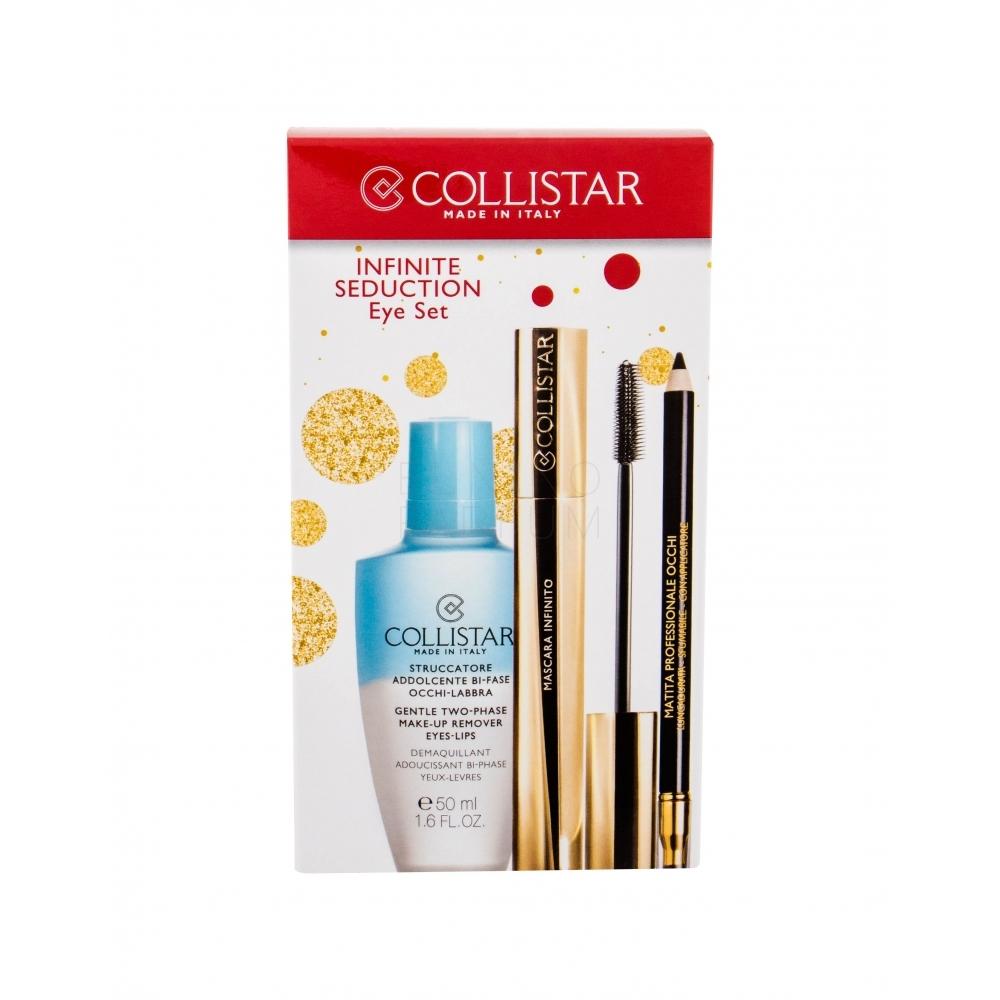 Zestaw kosmetyków dla Kobiet COLLISTAR Infinite Seduction Mascara tusz do rzęs, kredka, płyn do demakijażu,  okazyjna cena