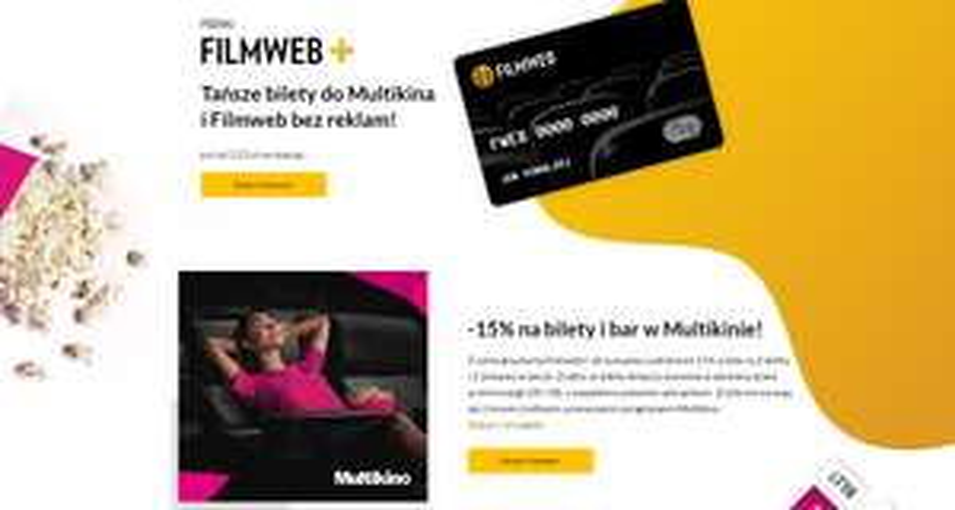 Zniżki w Multikinie i Filmweb bez reklam