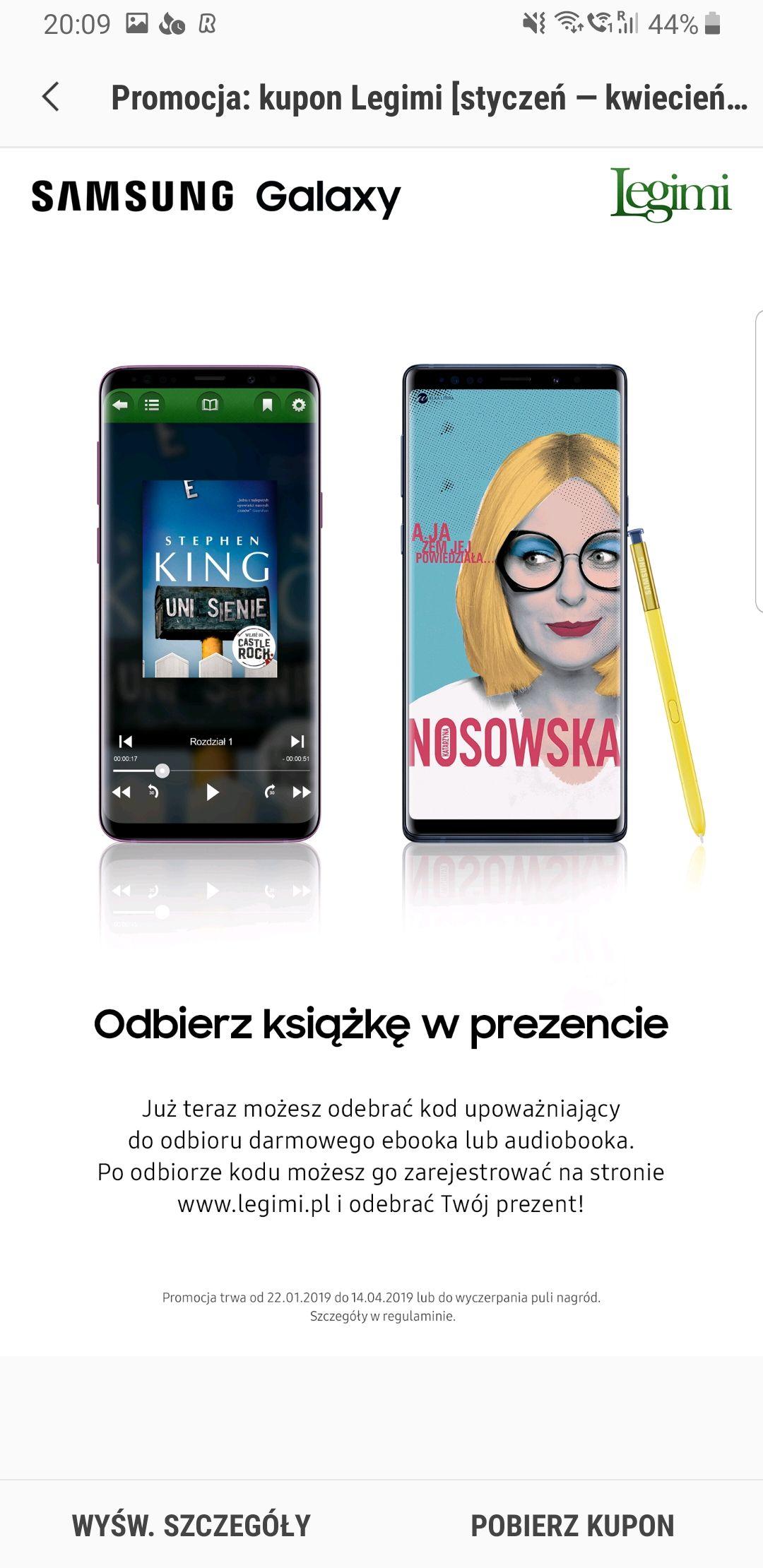 Samsung Members Ebook lub audiobook za darmo dla posiadaczy wybranych Galaktyk