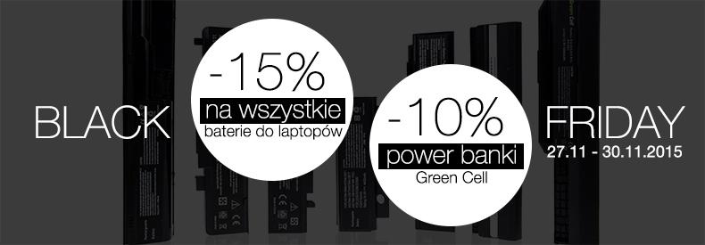 [CYBER MONDAY] Rabaty do 15% i darmowa wysyłka @ŚwiatBaterii