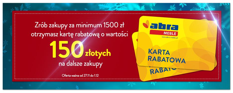 [Cyber Monday] Bon na 150zł przy zakupach za 1500zł @ Abra Meble
