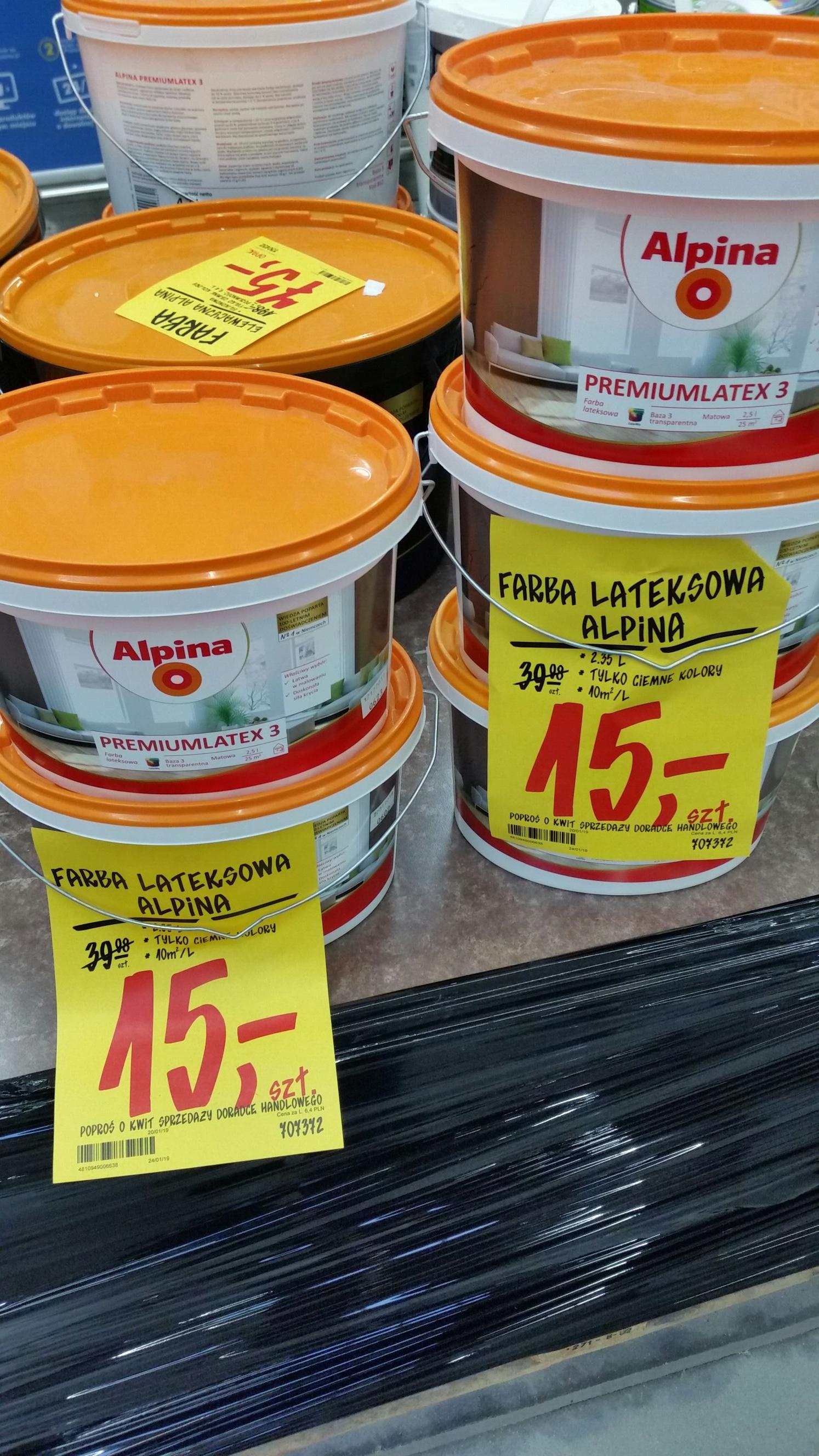 Farba lateksowa Alpina 2,35L.  Castorama Toruń