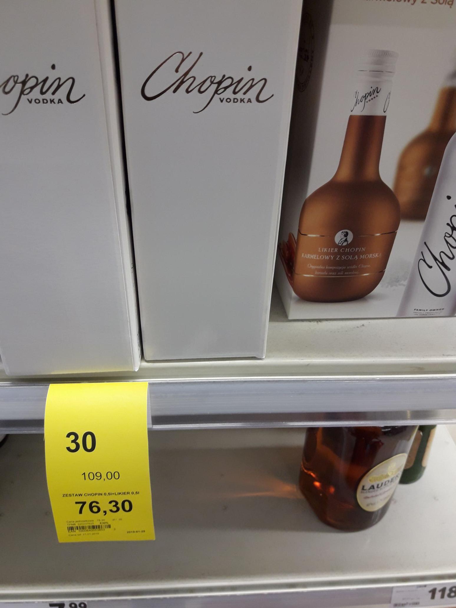 Zestaw wódka Chopin 0.5 + Likier 0.5