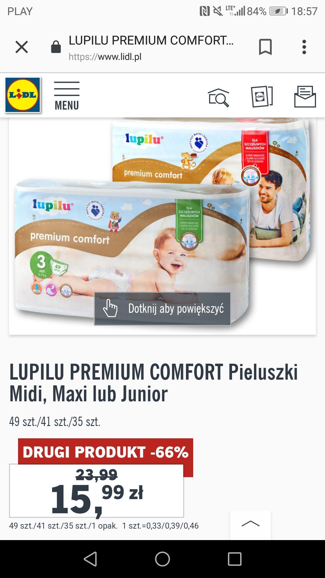 Pieluchy Lupilu Premium Comfort kup 2 opakowania zapłać 15,99zł/opak. Lidl