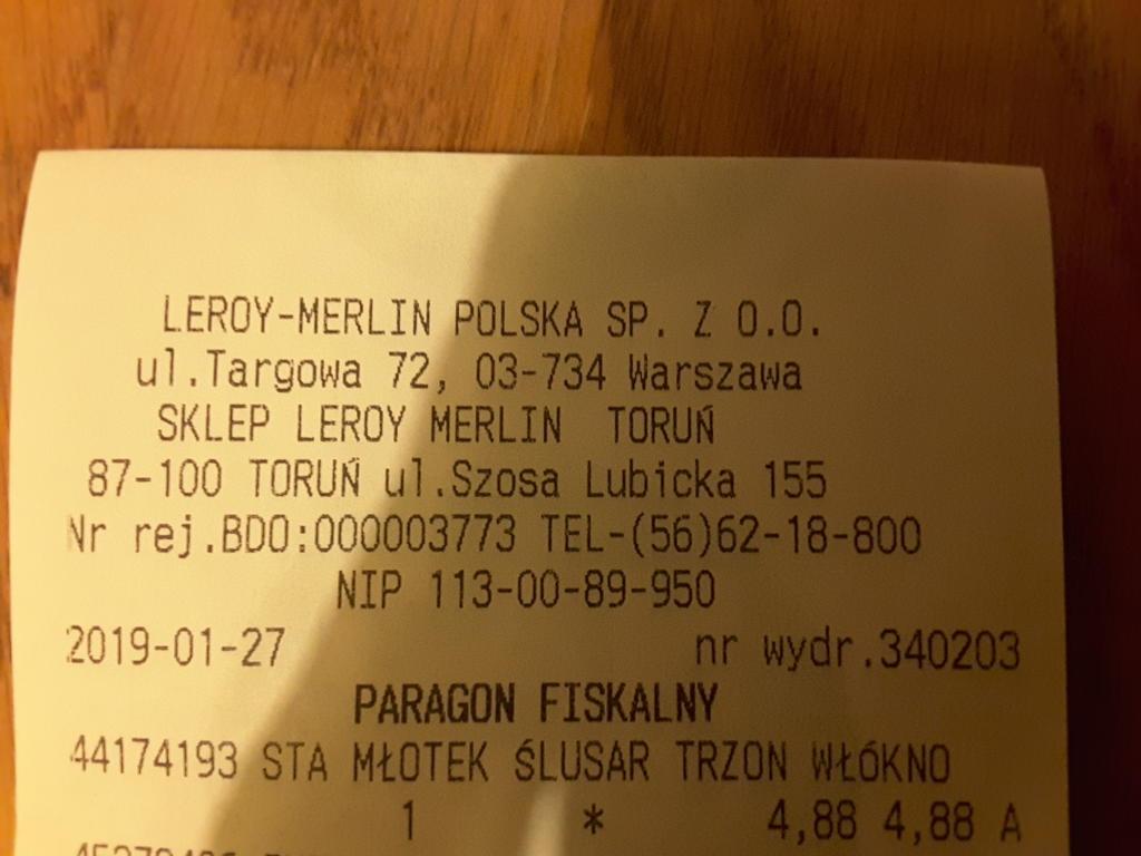 Młotek ślusarski Stanley 300g, Leroy Merlin, MEGA OKAZJA