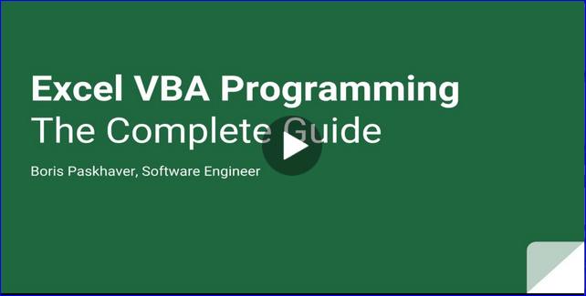 Kurs Excel VBA Programming - The Complete Guide, za darmo po użyciu kodu