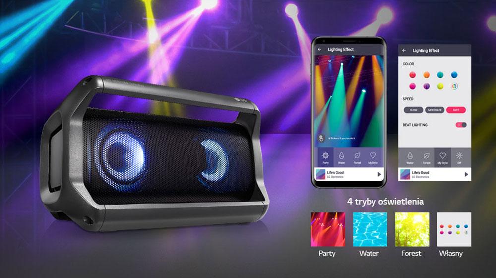 Głośnik  bluetooth LG XBOOM Go PK5, czas pracy aż do 15godzin,  obniżka 39% w Eurocom