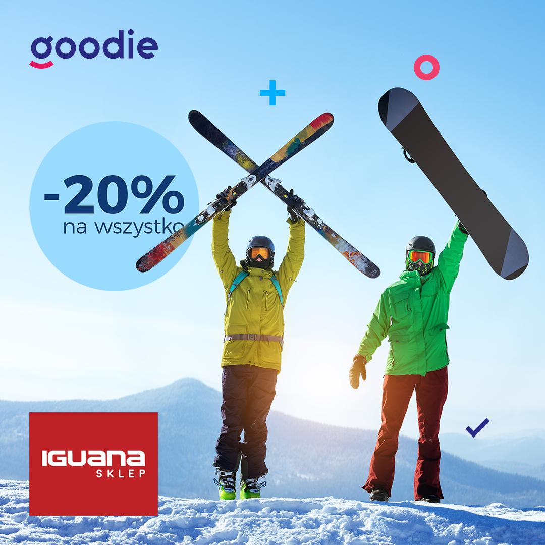-20% na wszystko w sklepie Iguana z aplikacją goodie