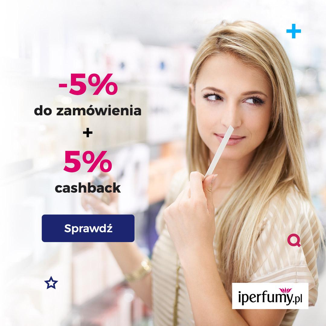 iperfumy.pl: -5% na zamówienie +5% cashback