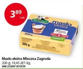 Masło Extra Mleczna Zagroda 200g, do 5.02.2019 @groszek