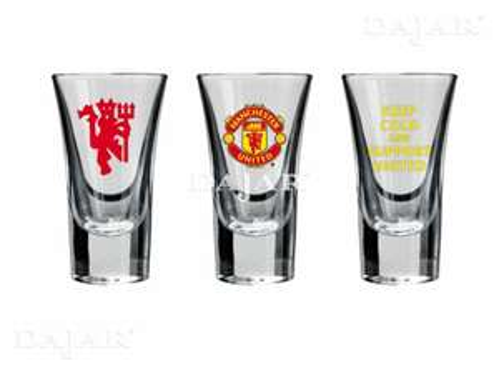 Komplet 3 kieliszków do wódki Manchester United Support United 50 ml Dajar.pl