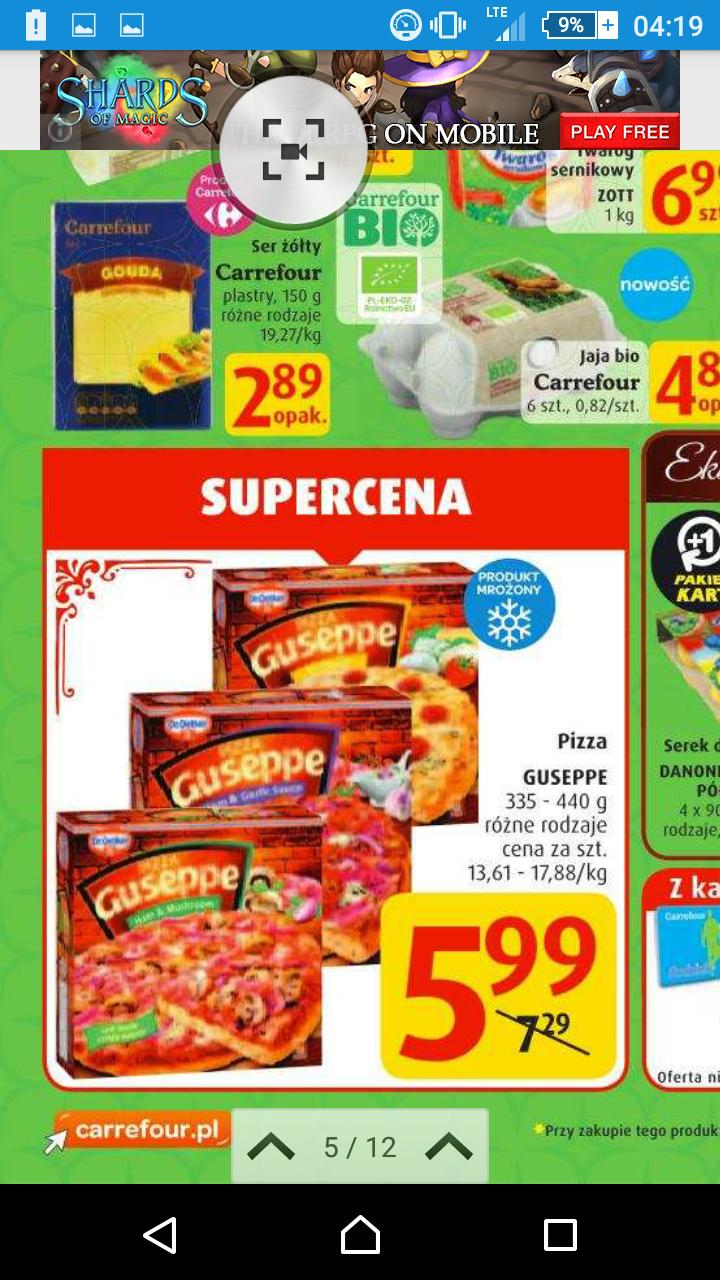 pizza Giuseppe - różne smaku Carrefour