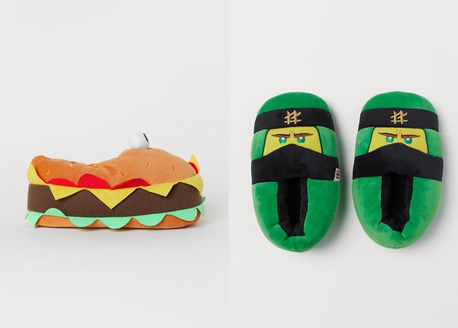 Damskie/dziecięce kapcie za 39,90zł (Ninjago, Hamburger) @ H&M