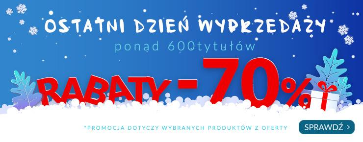 Livro.pl -70% Ostatni dzień wyprzedaży. 700 tytułów wszystkie -70%