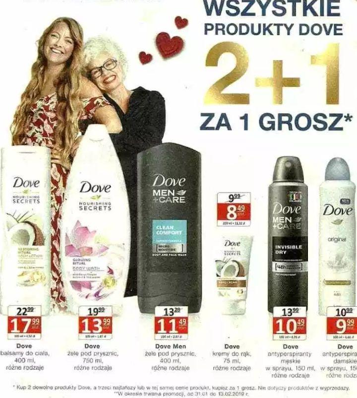 Wszystkie produkty Dove: 2+1 za grosz @ Natura