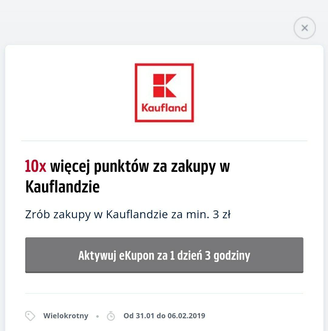 10x więcej punktów za zakupy w Kaufland przy użyciu Payback. * Dla wybranych.