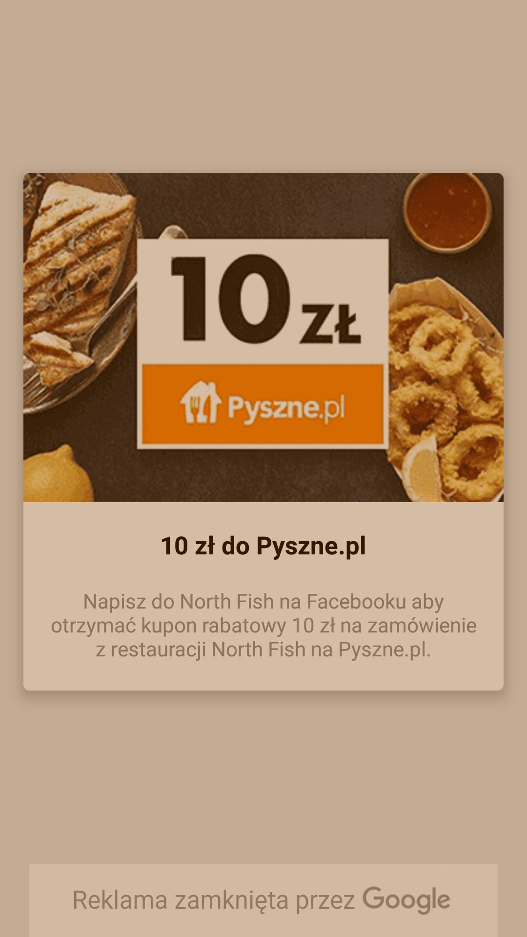 10 zł na Pyszne.pl w Nort Fish