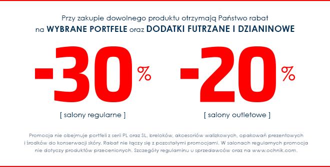30% zniżki na portfele i dodatki @ Ochnik